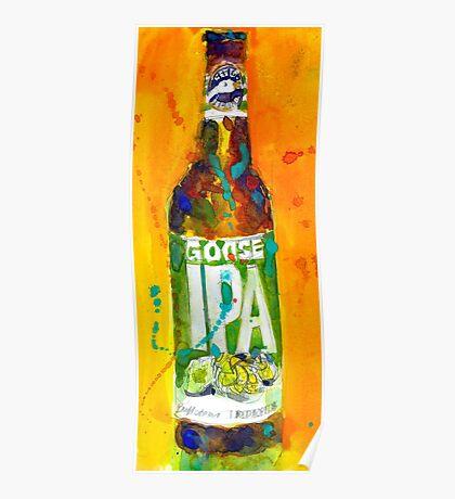 Goose Island IPA Beer Bottle Poster