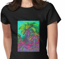 Filicinae Trees and Ferns Womens Fitted T-Shirt
