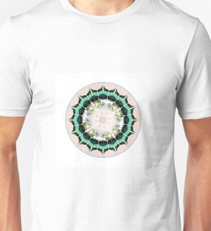 Minty Circular Tessellation Design  Unisex T-Shirt