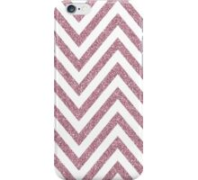 MODERN CHEVRON PATTERN bold pale pink glitter white iPhone Case/Skin