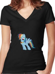 Rainbow Dash - Element of Loyalty Women's Fitted V-Neck T-Shirt
