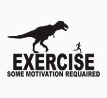 T-Rex Exercise t-shirt by redbuble2014