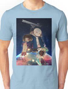 Frisk and Sans' space observation Unisex T-Shirt