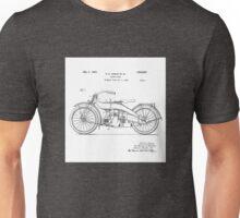 Harley Davidson Motorcycle 1924 Patent Drawing Unisex T-Shirt