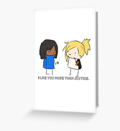 Justice Rains down with love.  Greeting Card