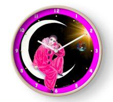 060 Wall Clock Pierrot on the moon Clock
