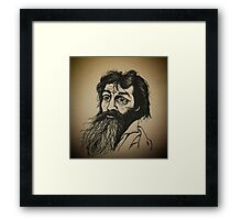 Charles Manson ink drawing Framed Print