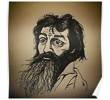 Charles Manson ink drawing Poster