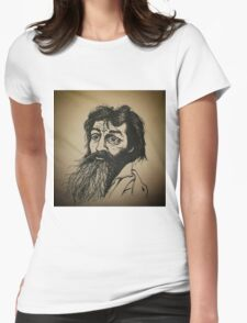 Charles Manson ink drawing Womens Fitted T-Shirt