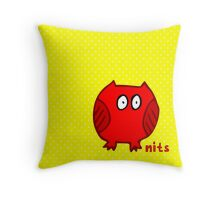 Nits for Kids - One Owl Cushion Throw Pillow