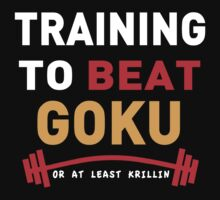 Training to beat goku - at least krillin  by Pickadree