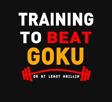 Training to beat goku - at least krillin  Zipped Hoodie