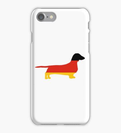 dachshund flag silhouette iPhone Case/Skin