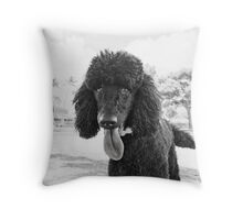 Dogs with game face on .23 Throw Pillow
