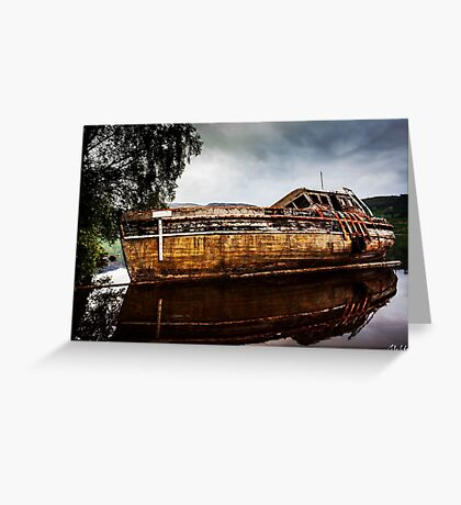 Abandoned on Loch Ness Greeting Card