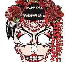 Geisha sugar skull by kap-kat