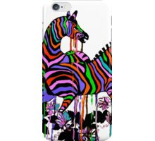 Rainbow Zebras At Play #2 iPhone Case/Skin