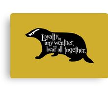 Loyalty In Any Weather, We Bear All Together Canvas Print