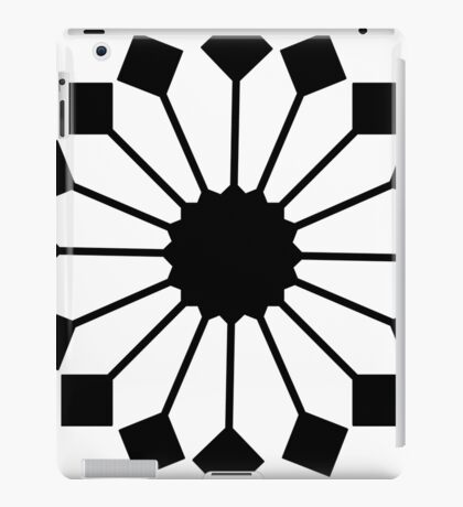 2017 COLLECTION| BLACK AND WHITE |  FUN FLORAL iPad Case/Skin
