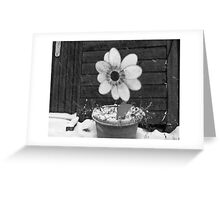 Flowers in the Snowstorm Greeting Card