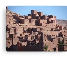 Morocco, a very old Sahara Desert Village Scene Canvas Print