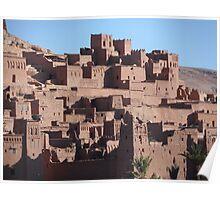 Morocco, a very old Sahara Desert Village Scene Poster
