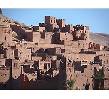 Morocco, a very old Sahara Desert Village Scene Photographic Print