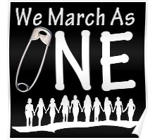 We March As One (reverse) - #safetypin for #solidarity Poster