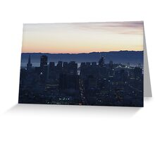 San Francisco Night Greeting Card
