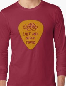 Lost Guitar Pick Mustard Long Sleeve T-Shirt