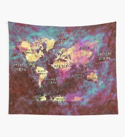 world map 31 Wall Tapestry