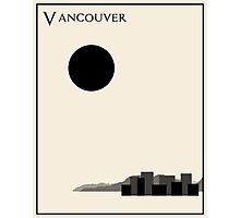 Vancouver Minimalist Travel Poster - Beige Version Photographic Print