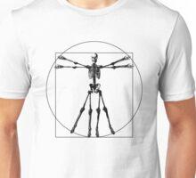 Leonardo da Vinci, The Vitruvian Man Skeleton Unisex T-Shirt
