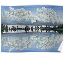 Clouds Reflection Poster