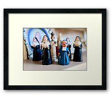 Christmas Nuns Greeting Card Framed Print