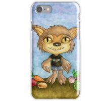 vegan werewolf iPhone Case/Skin