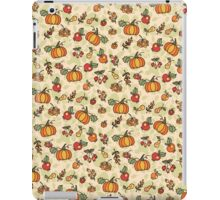 Autumn harvest fruit,pumpkin .Doodle  pattern iPad Case/Skin