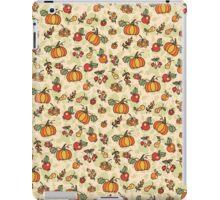 Autumn harvest fruit,pumpkin .Doodle  pattern iPad Case/Skin