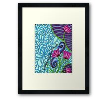 Lily Splash in Aqua & Magenta Framed Print