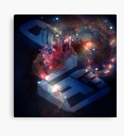 Isometric Hunter's Dream Galaxy Canvas Print