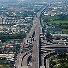 Aerial view of an Expressway Intersection, Bangkok by stuwdamdorp