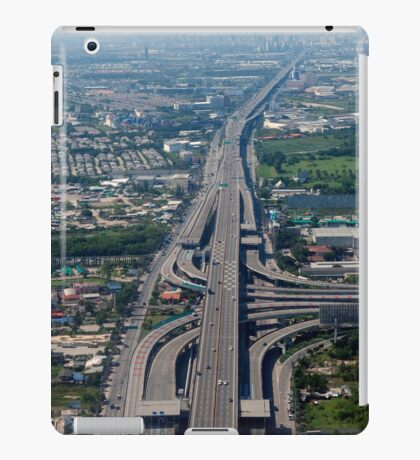 Aerial view of an Expressway Intersection, Bangkok iPad Case/Skin