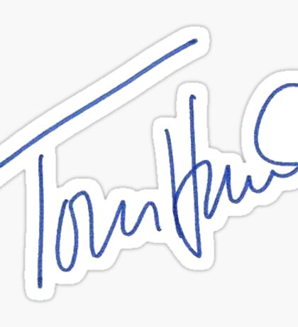 Tom Hanks Signature Sticker