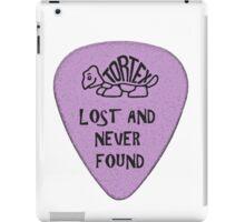 Lost Guitar Pick Purple iPad Case/Skin