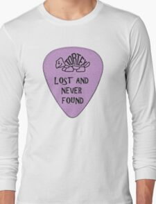 Lost Guitar Pick Purple Long Sleeve T-Shirt