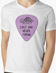 Lost Guitar Pick Purple Mens V-Neck T-Shirt
