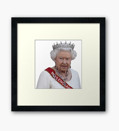 Queen Elizabeth II - Miss England Framed Print