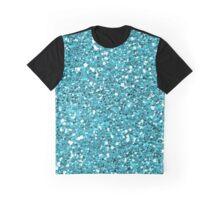 Light Blue Glitter 01 Graphic T-Shirt