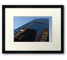 Reflecting on Skyscrapers - Downtown Atmosphere  Framed Print