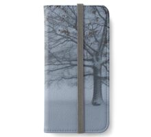 Snow Covered Tree Trunks iPhone Wallet/Case/Skin